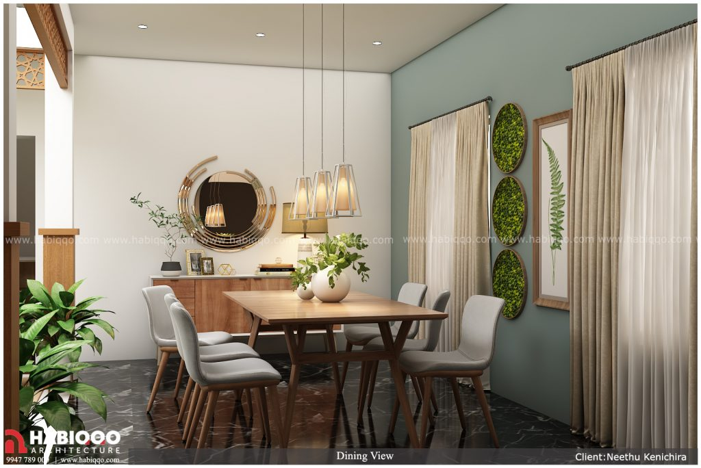interiour designs in Wayanad - rchitect in Wayanad- Dining area view